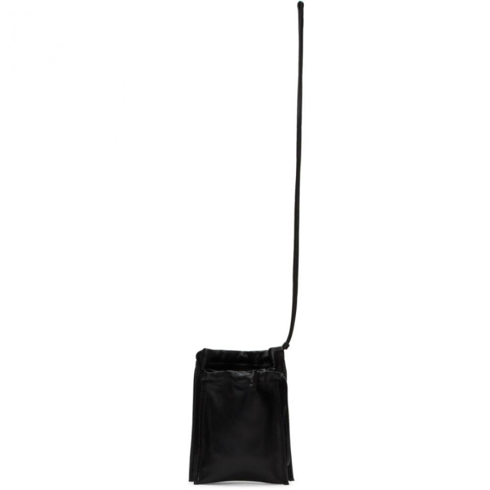 ビルディング ブロック Building Block レディース ショルダーバッグ バッグ【SSENSE Exclusive Black Scrunch Pouch Bag】Black