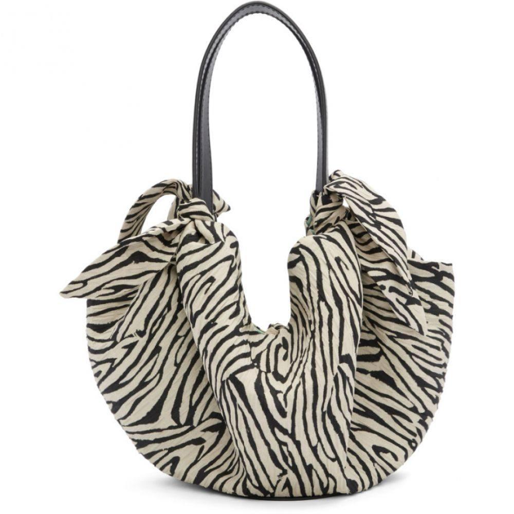 ナヌシュカ Nanushka レディース トートバッグ バッグ【Black & Off-White Zebra Mini Inda Scarf Tote】Zebra