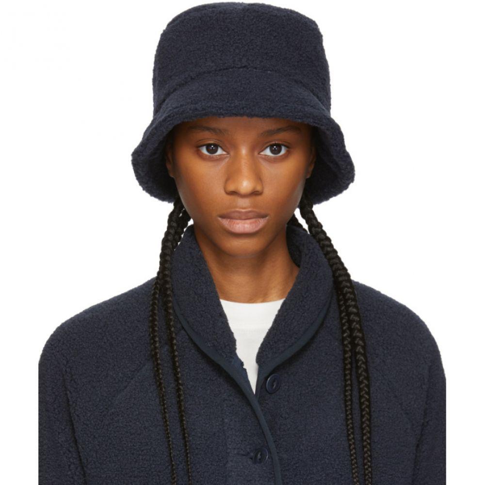 ワイエムシー YMC レディース ハット バケットハット 帽子【Navy Sherpa Fleece Bucket Hat】Navy