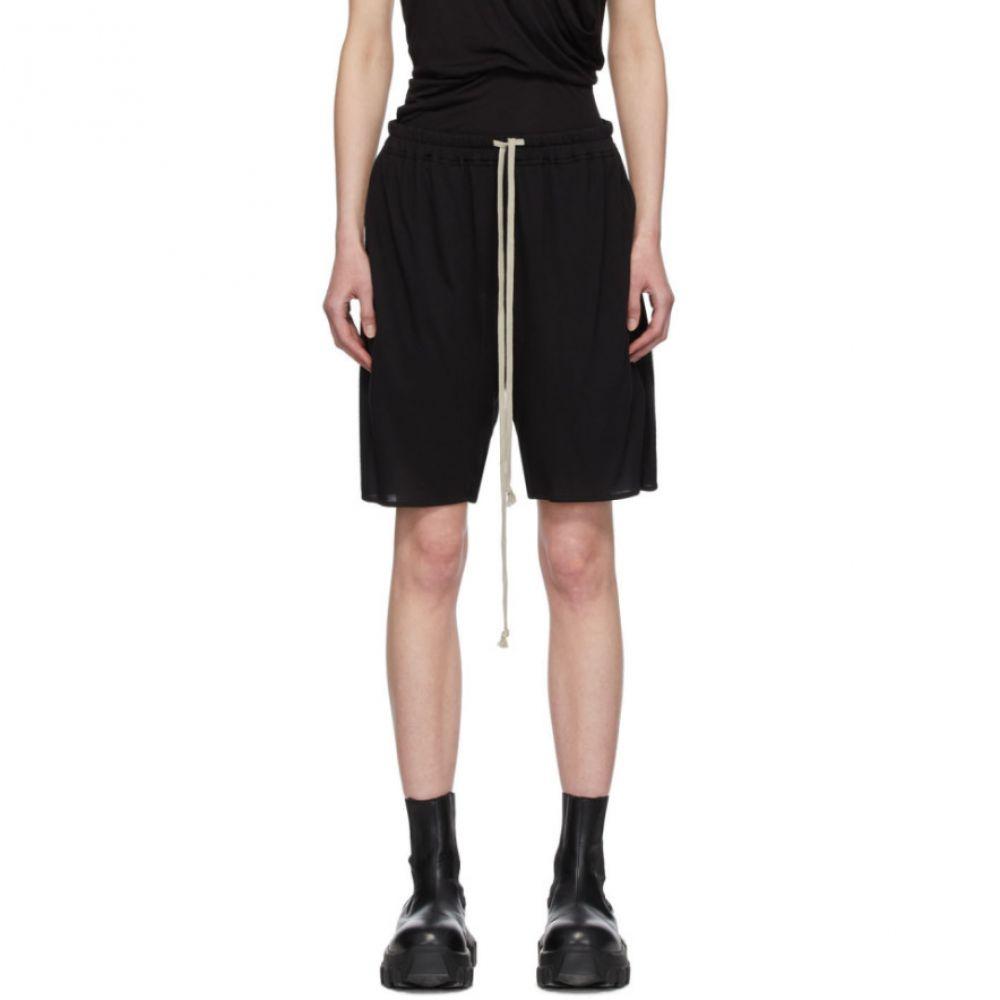 リック オウエンス Rick Owens Lilies レディース ショートパンツ ボトムス・パンツ【Black Heavy Jersey Shorts】Black