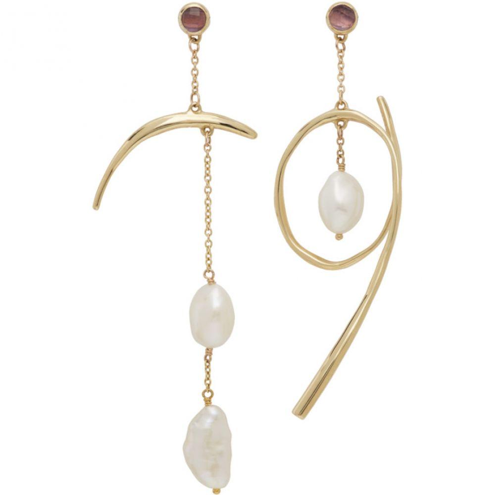 ファリス Faris レディース イヤリング・ピアス ジュエリー・アクセサリー【Gold Celeste Earrings】Bronze/Purple