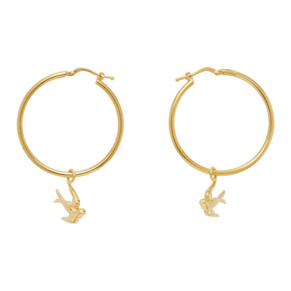 アレキサンダー マックイーン McQ Alexander McQueen レディース イヤリング・ピアス ジュエリー・アクセサリー【Gold Swallow Hoop Earrings】Gold