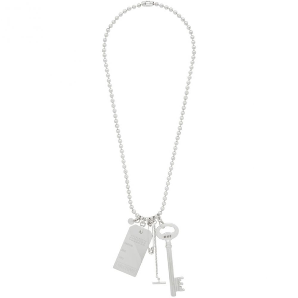メゾン マルジェラ MM6 Maison Margiela レディース ネックレス チャーム ジュエリー・アクセサリー【Silver Charm Necklace】Silver