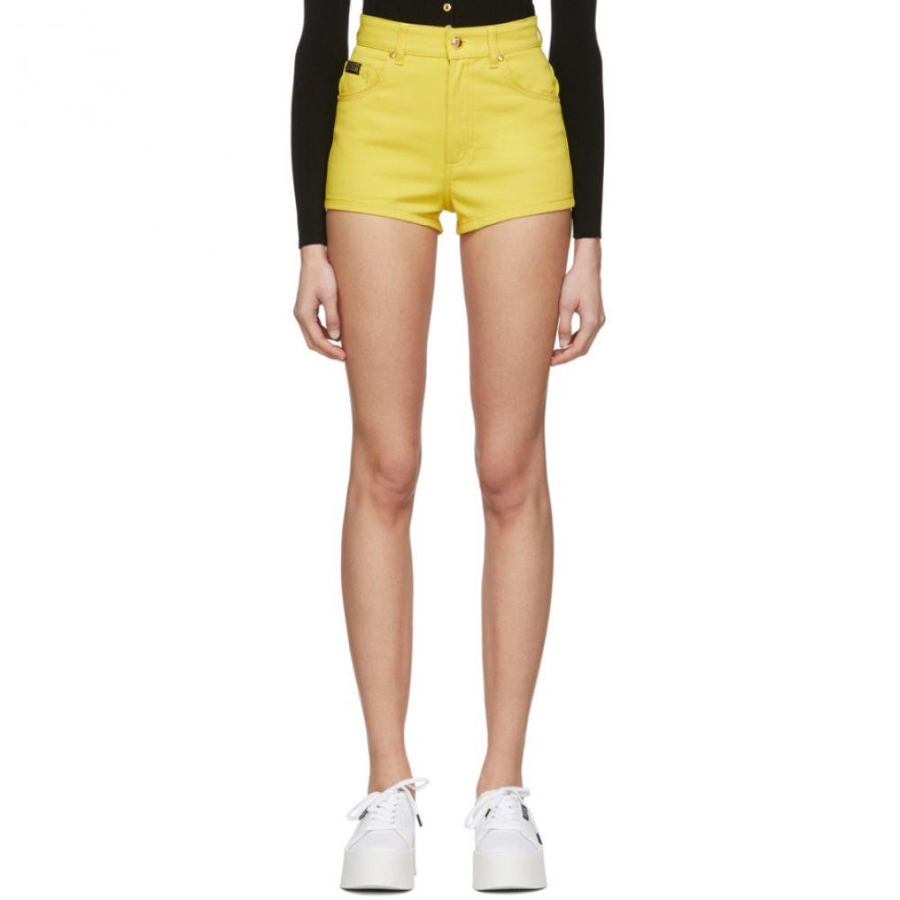 ヴェルサーチ Versace Jeans Couture レディース ショートパンツ デニム ボトムス・パンツ【Yellow Denim Hot Shorts】Yellow