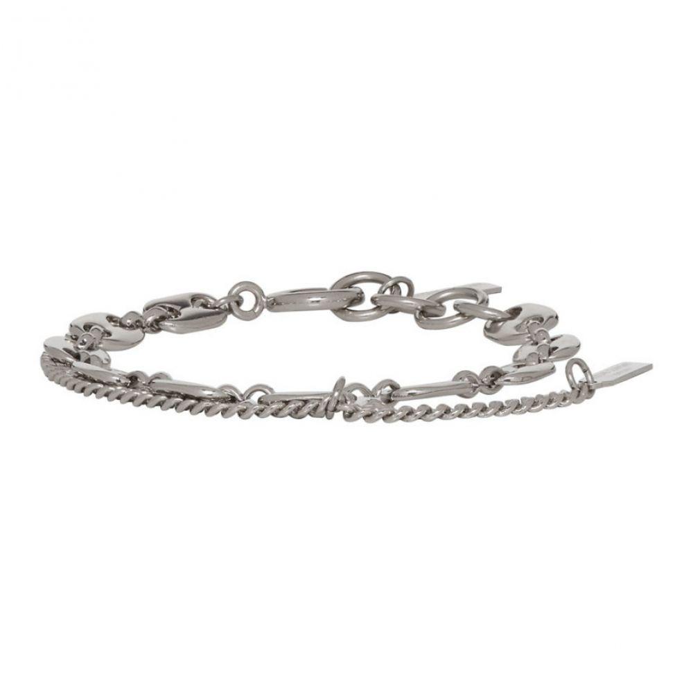 ジュスティーヌクランケ Justine Clenquet レディース ブレスレット ジュエリー・アクセサリー【Silver Jerry Chain Bracelet】Silver