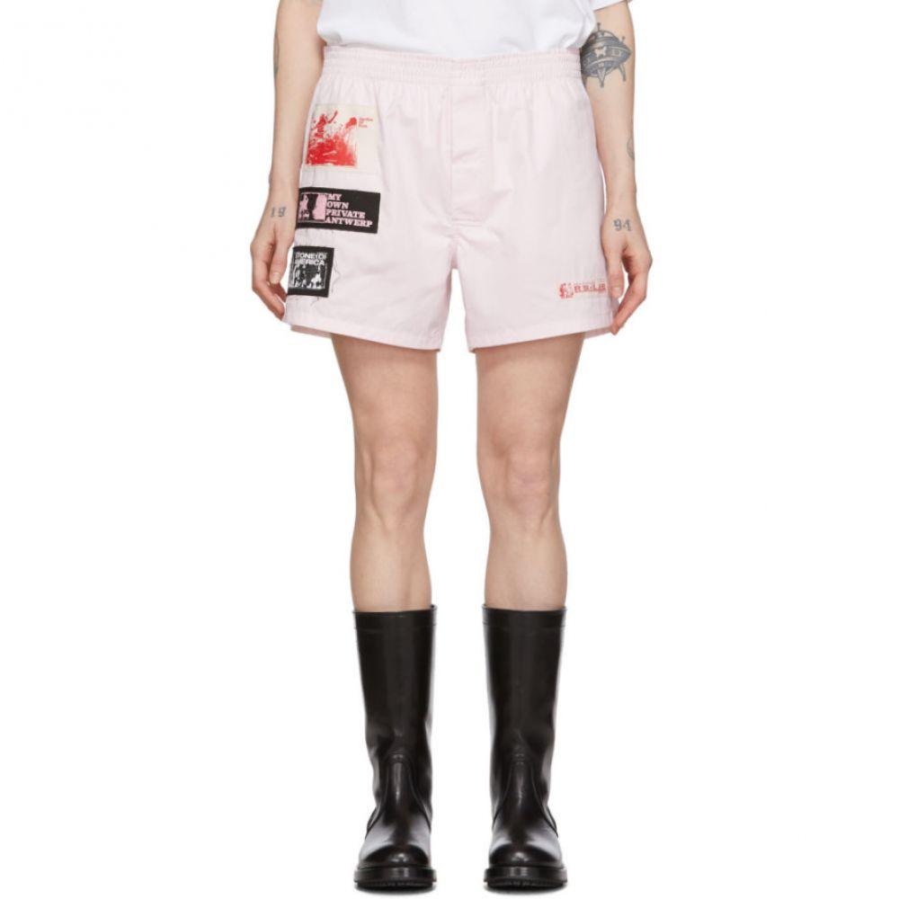 ラフ シモンズ Raf Simons レディース ショートパンツ ボクサーショーツ ボトムス・パンツ【Pink Patch Boxer Shorts】Pink