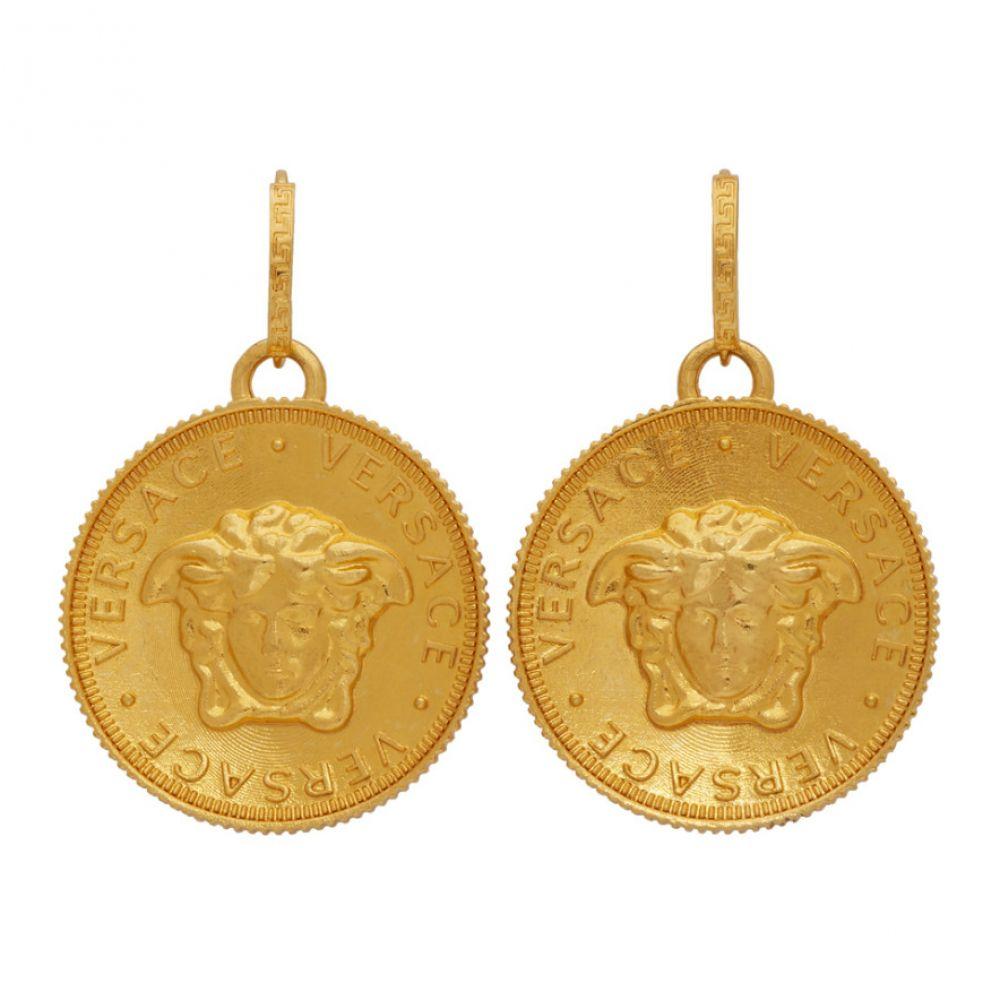 ヴェルサーチ Versace レディース イヤリング・ピアス メデューサ ジュエリー・アクセサリー【Gold Medusa Pendant Earrings】Gold
