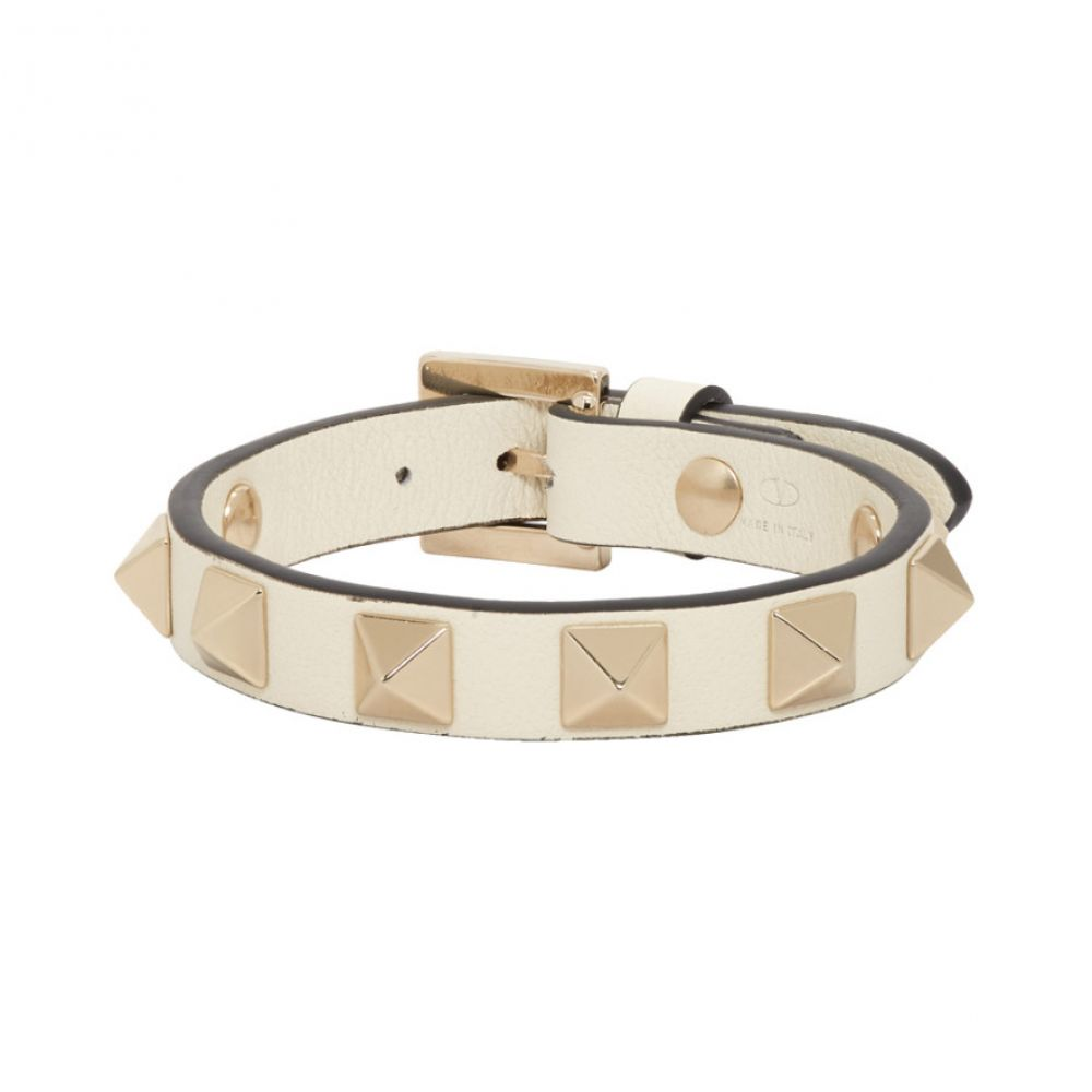 ヴァレンティノ Valentino レディース ブレスレット ジュエリー・アクセサリー【Off-White Garavani Rockstud Bracelet】Light ivory