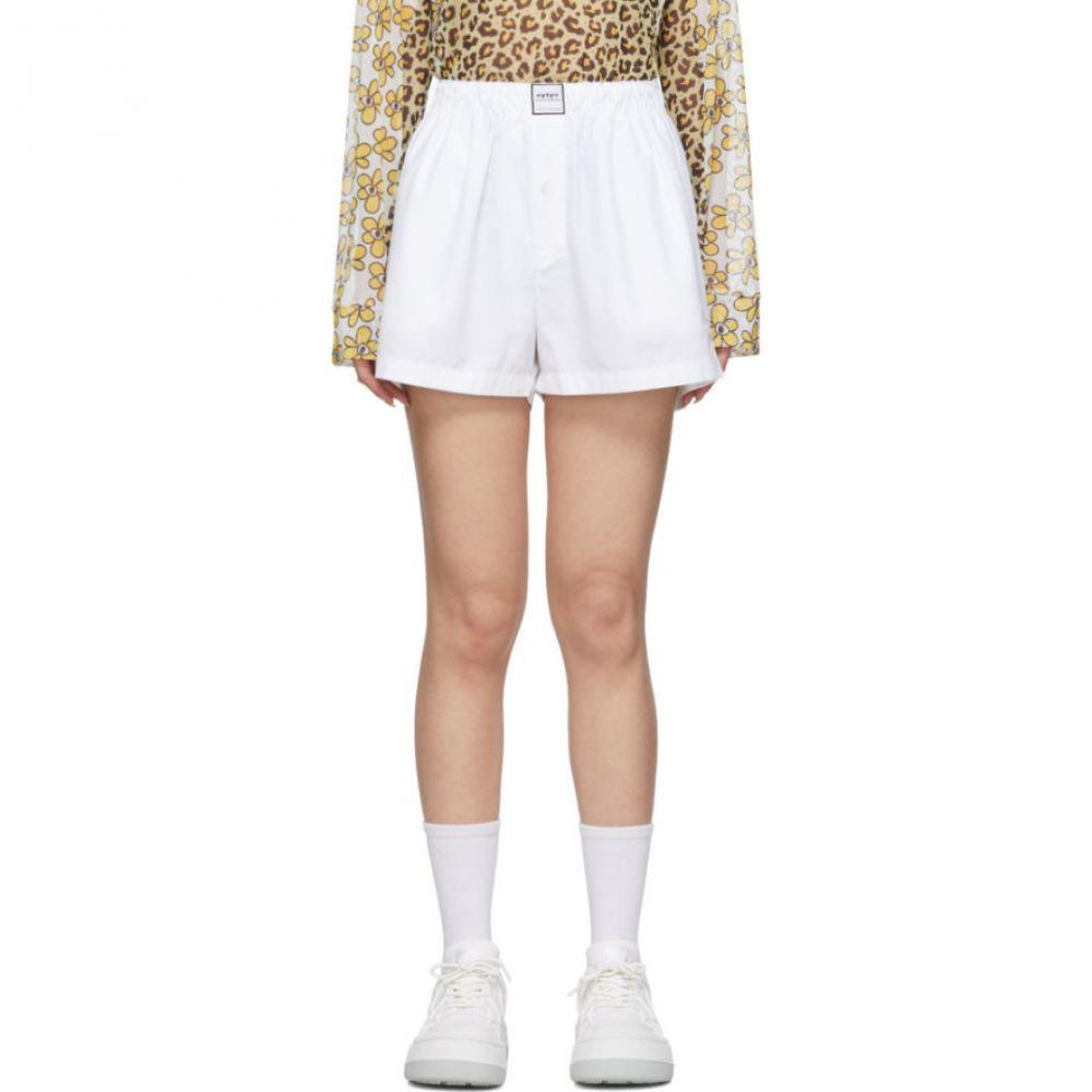 エイティーズ Eytys レディース ショートパンツ ボトムス・パンツ【White Poplin Shorts】White