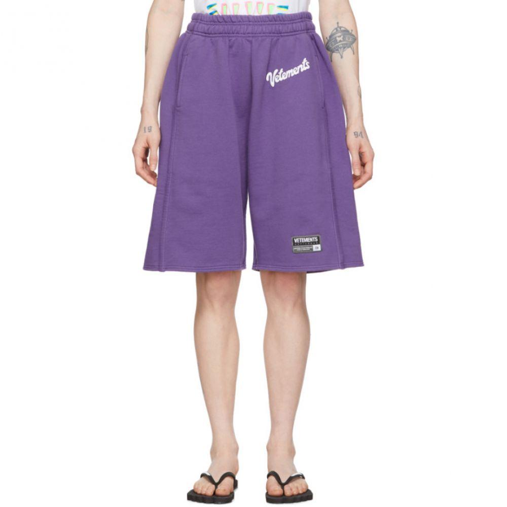 ヴェトモン VETEMENTS レディース ショートパンツ ボトムス・パンツ【Purple Milka Shorts】Lilac