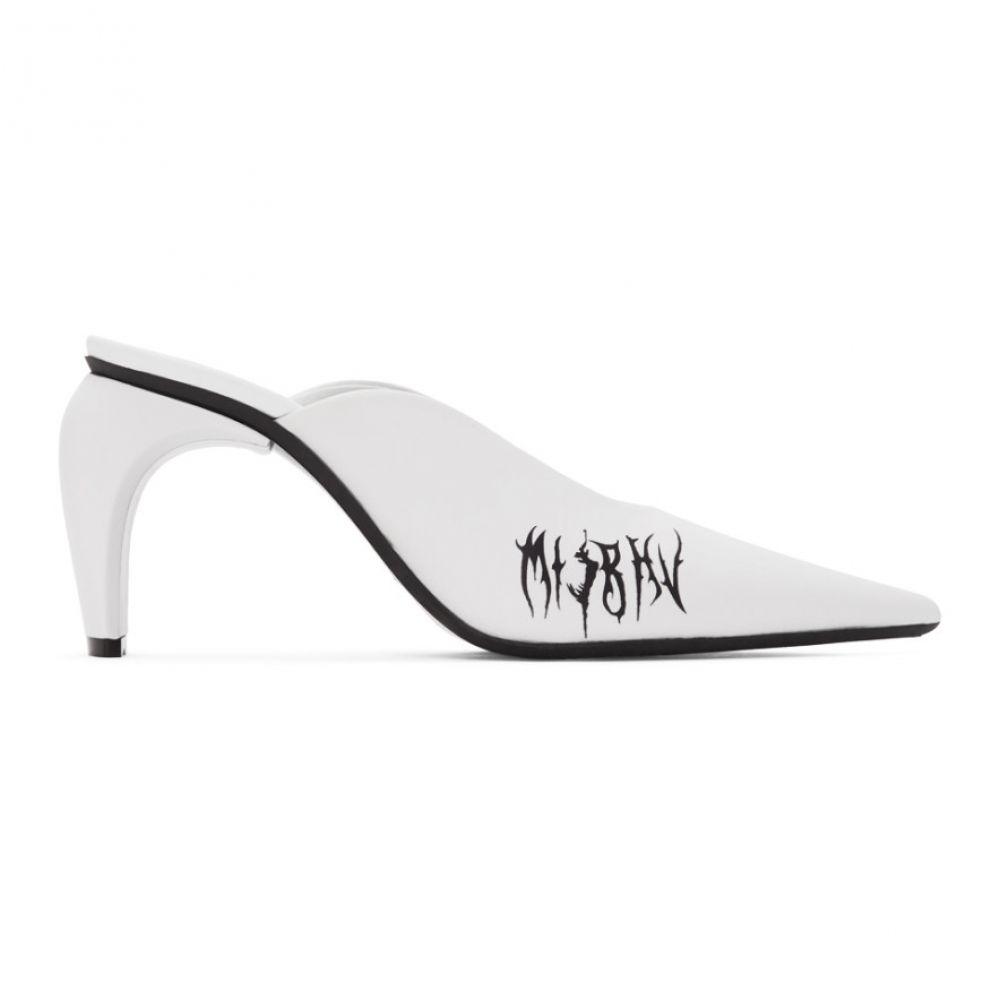 ミスビヘイブ MISBHV レディース サンダル・ミュール シューズ・靴【White Pandora Slicer Mules】White