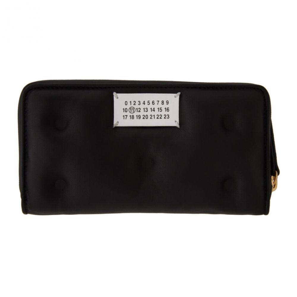 メゾン マルジェラ Maison Margiela レディース 財布 【Black Rectangle Glam Slam Zip Wallet】Black
