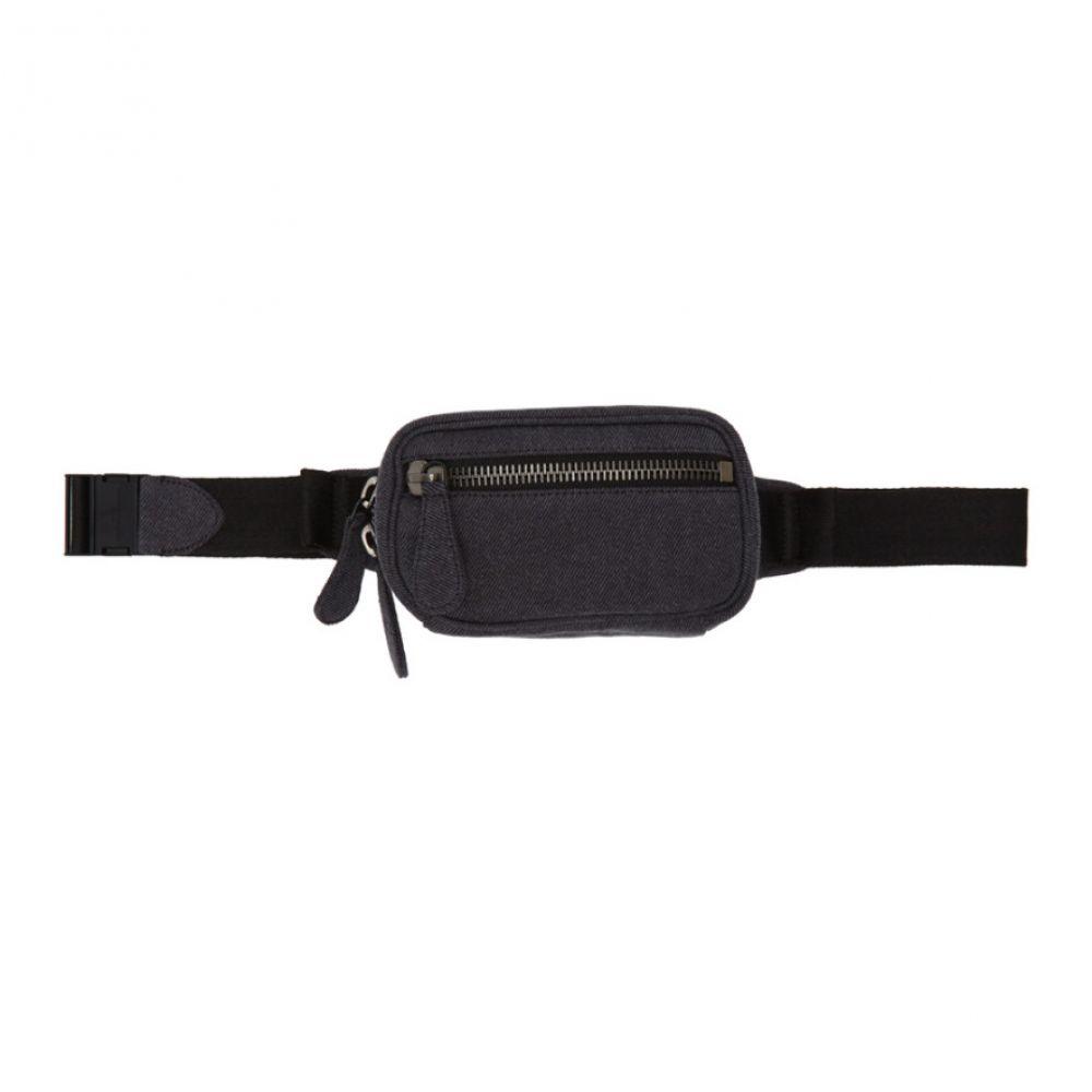 メゾン マルジェラ Maison Margiela レディース ボディバッグ・ウエストポーチ バッグ【Black Denim Belt Bag】Black
