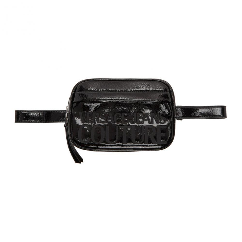 ヴェルサーチ Versace Jeans Couture レディース ボディバッグ・ウエストポーチ バッグ【Black Patent Logo Belt Bag】Black