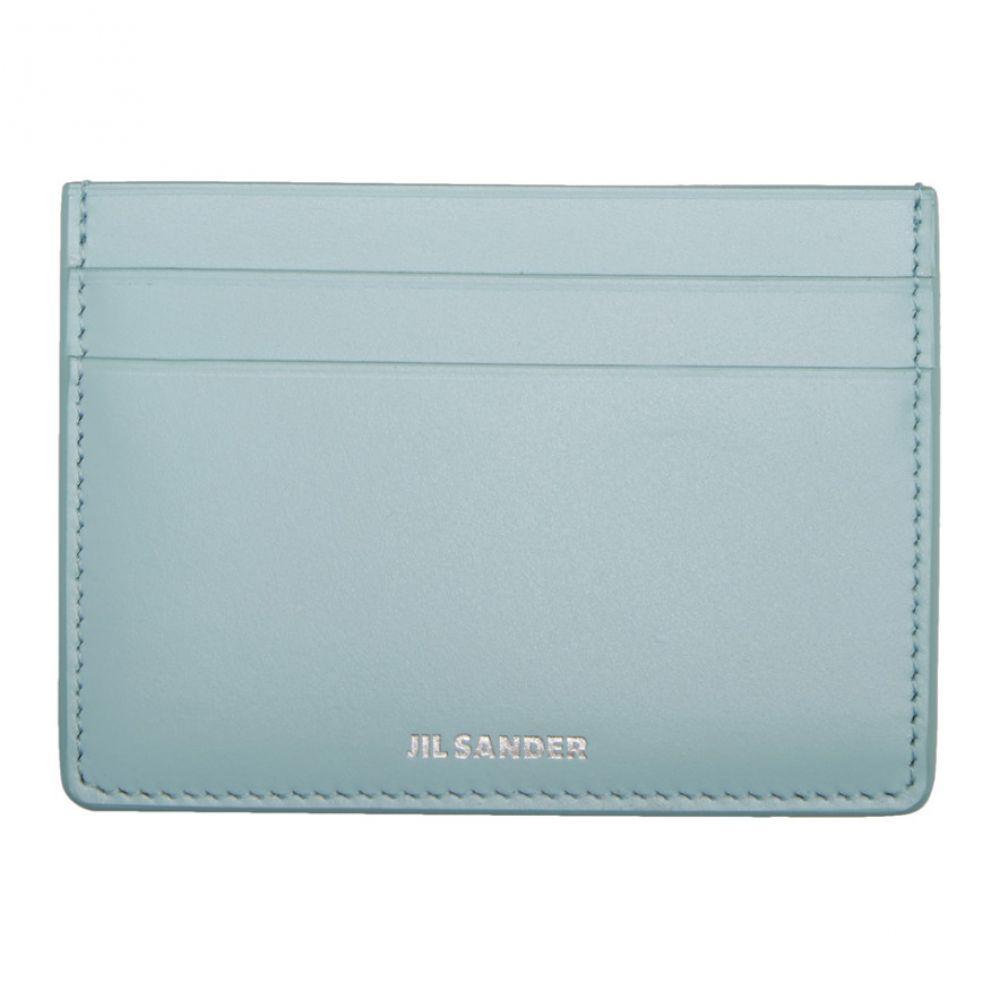 ジル サンダー Jil Sander レディース カードケース・名刺入れ カードホルダー【Blue Leather Card Holder】Sky