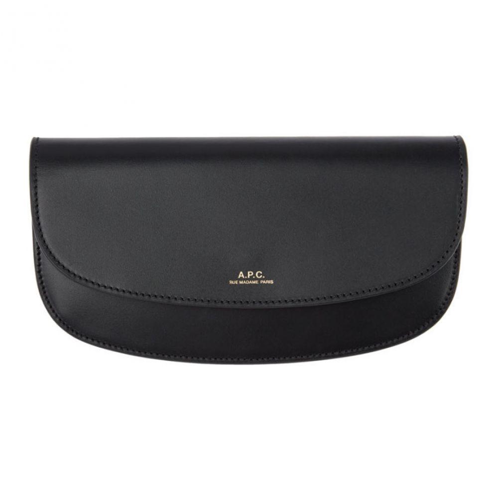 アーペーセー A.P.C. レディース 財布 【Black Demi-Lune Continental Wallet】Black