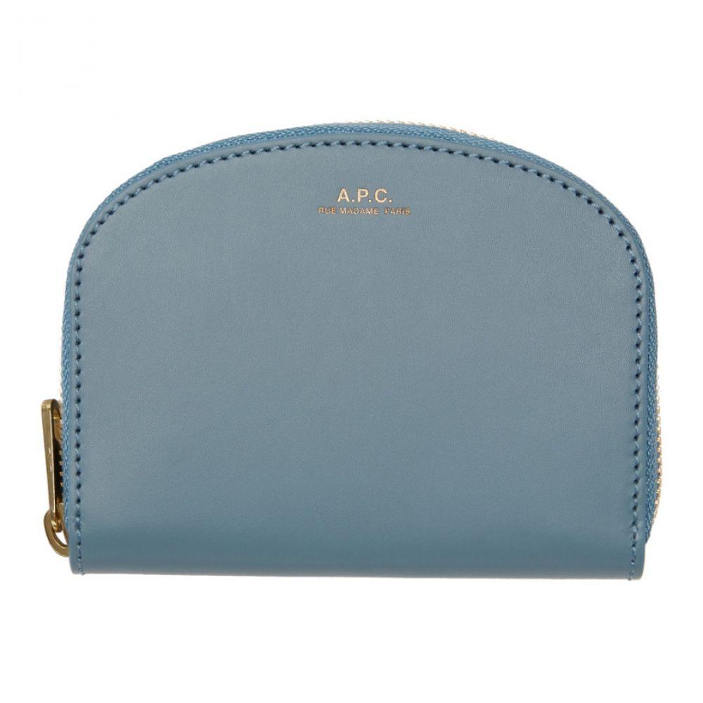 アーペーセー A.P.C. レディース 財布 【Blue Compact Demi Lune Wallet】IAC blue