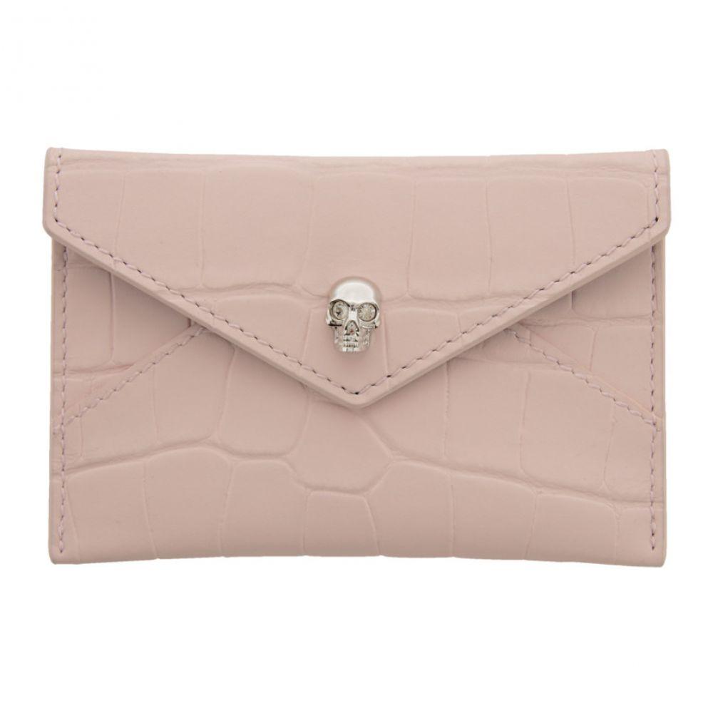 アレキサンダー マックイーン Alexander McQueen レディース カードケース・名刺入れ カードホルダー【Pink Croc Skull Envelope Card Holder】Rose
