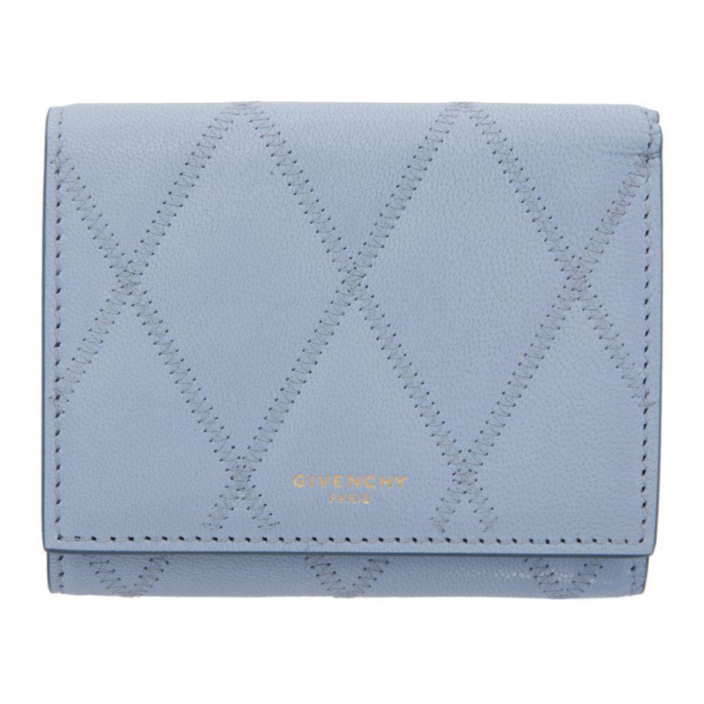 ジバンシー Givenchy レディース 財布 【Blue GV3 Trifold Wallet】Cornflower