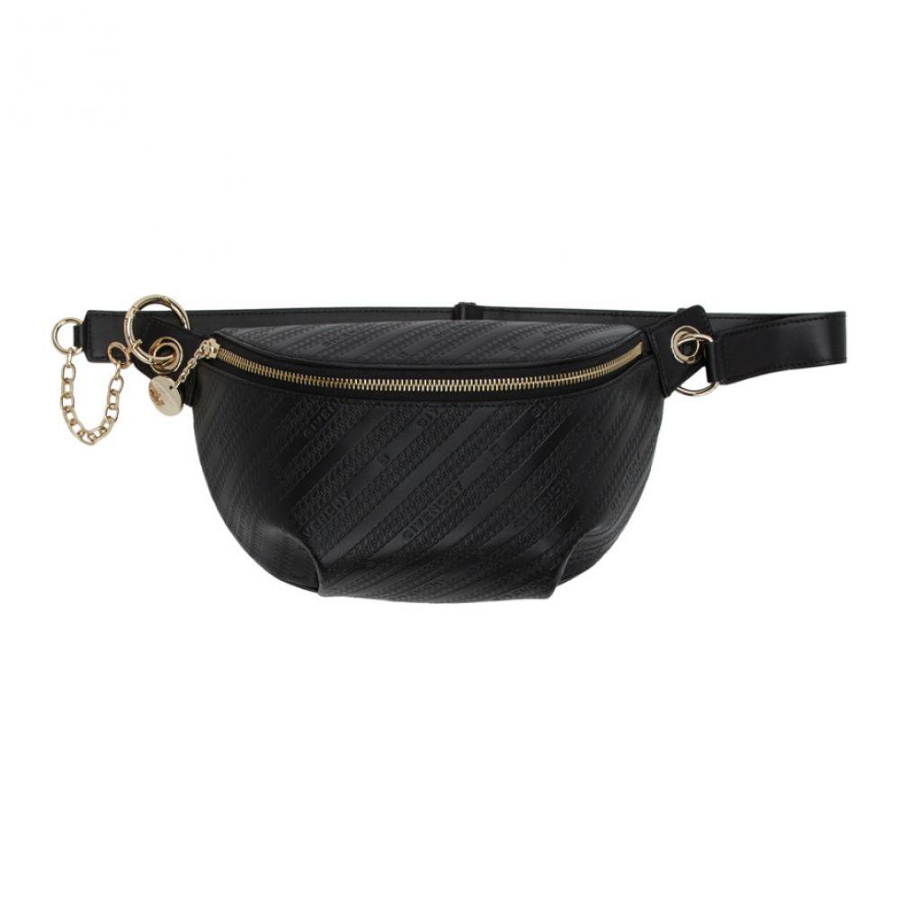 ジバンシー Givenchy レディース ボディバッグ・ウエストポーチ バッグ【Black Chain Embossed Bond Belt Bag】Black
