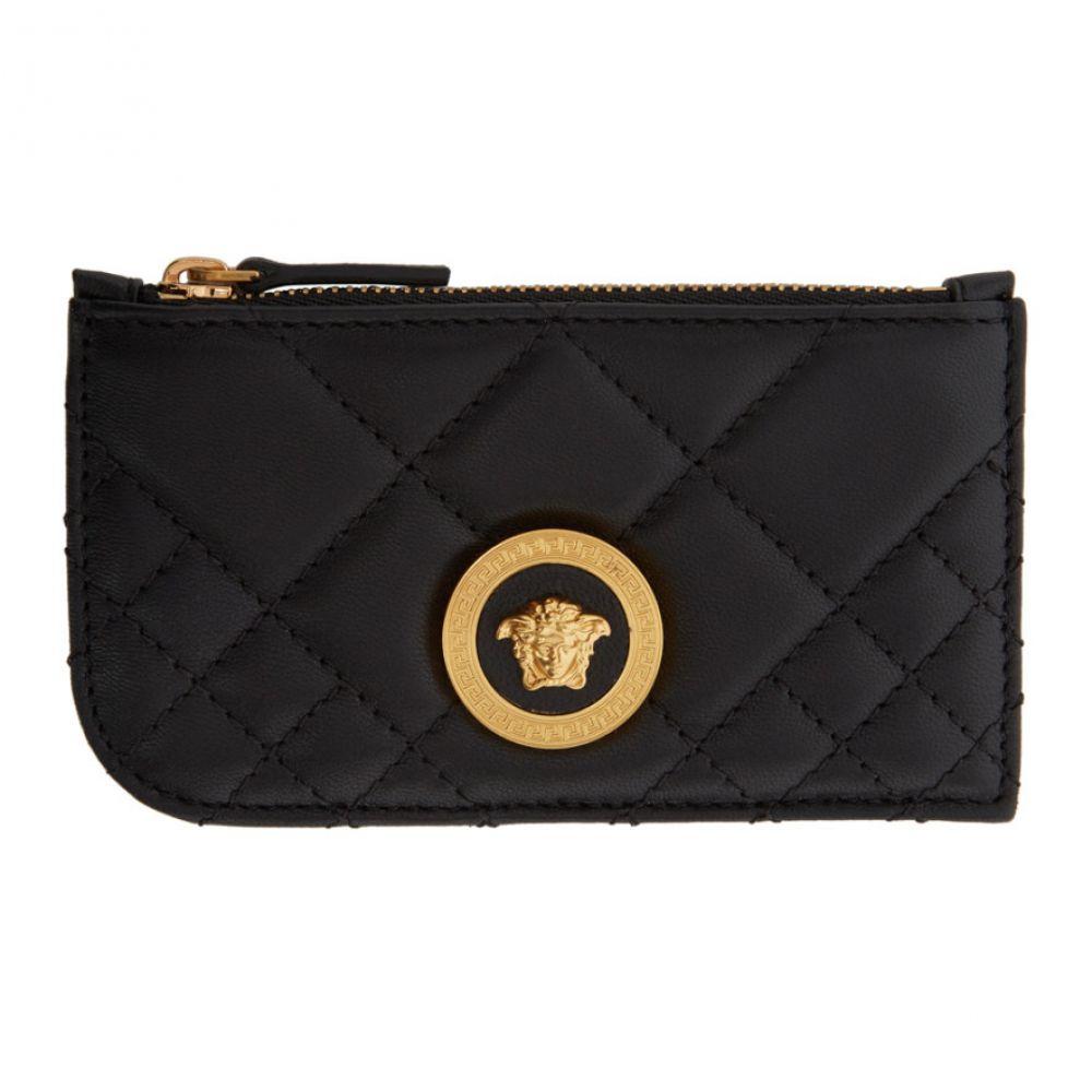 ヴェルサーチ Versace レディース カードケース・名刺入れ カードホルダー【Black Tribute Zip Card Holder】Black