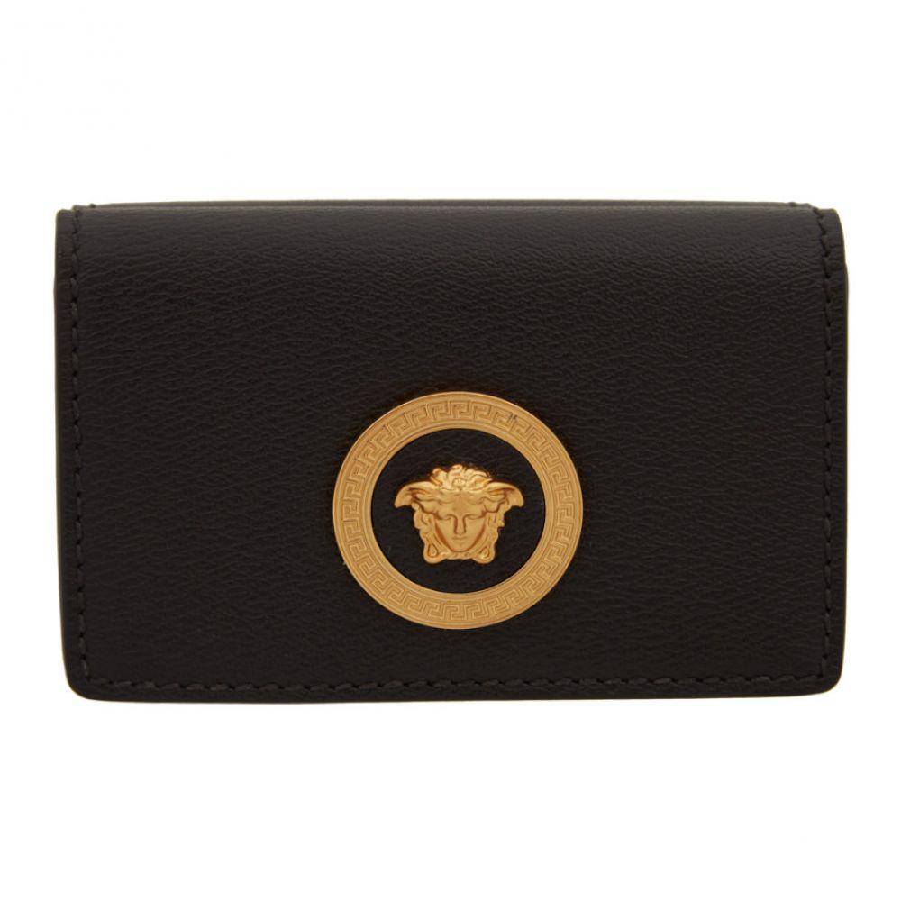 ヴェルサーチ Versace レディース 財布 メデューサ【Black Medusa Flap Over Wallet】Black