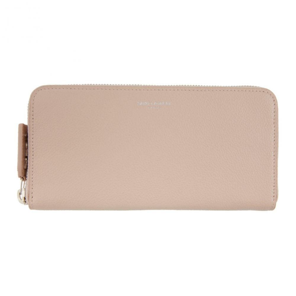 イヴ サンローラン Saint Laurent レディース 財布 【Pink Rive Gauche Zip Around Wallet】Marble
