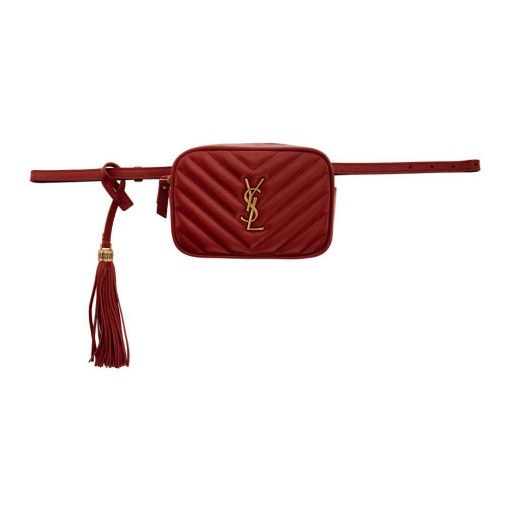イヴ サンローラン Saint Laurent レディース ボディバッグ・ウエストポーチ バッグ【Red Lou Belt Bag】Red