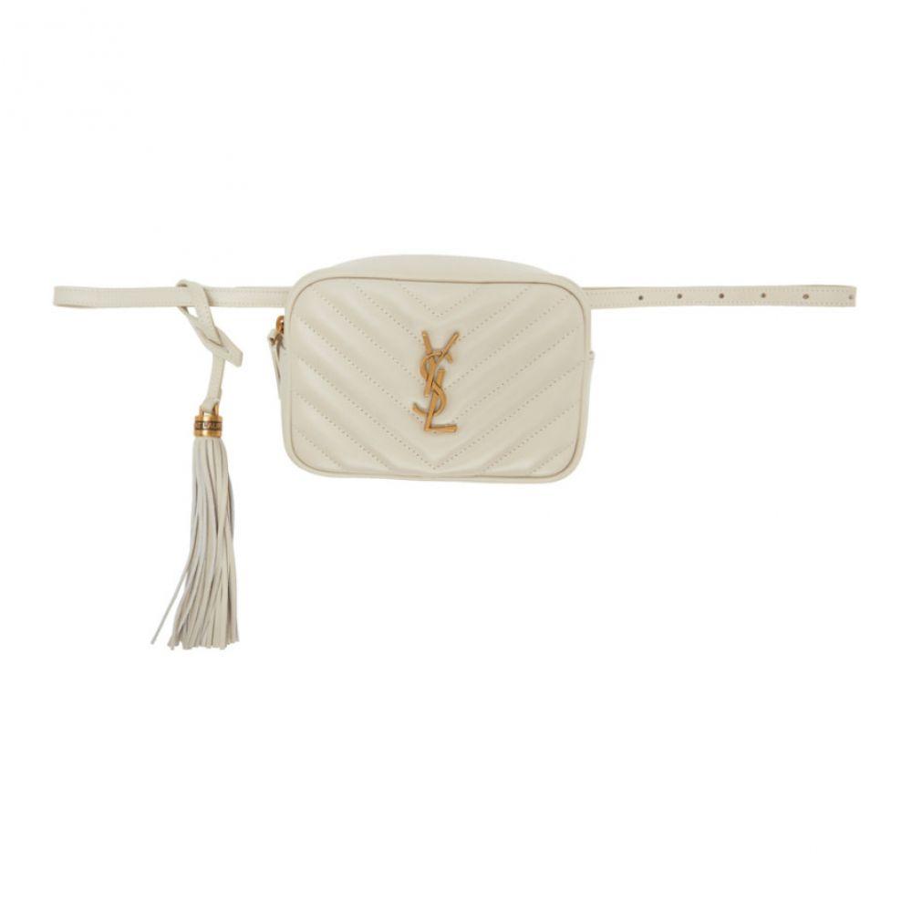 イヴ サンローラン Saint Laurent レディース ボディバッグ・ウエストポーチ バッグ【White Lou Belt Bag】White