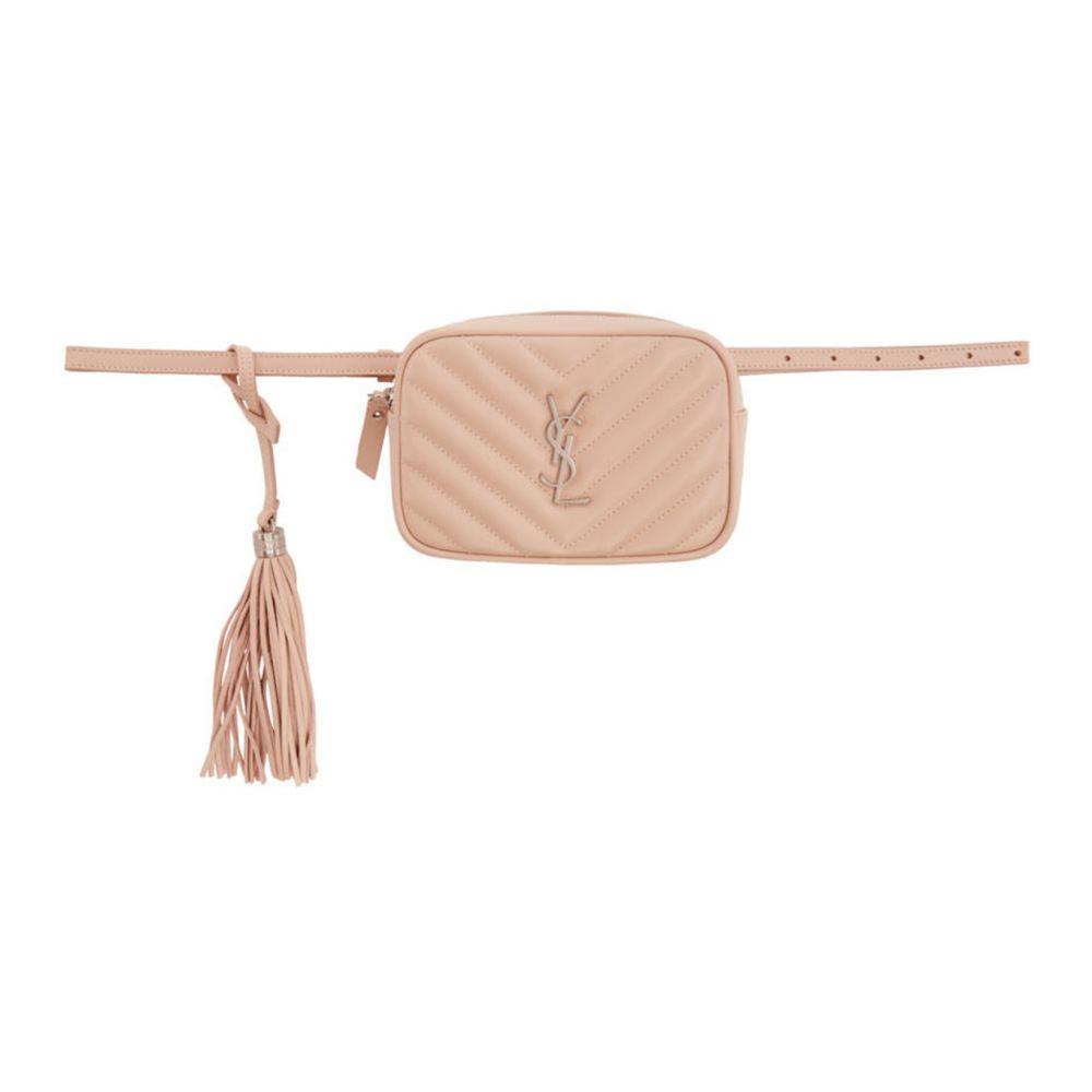 イヴ サンローラン Saint Laurent レディース ボディバッグ・ウエストポーチ バッグ【Pink Lou Belt Bag】Marble pink