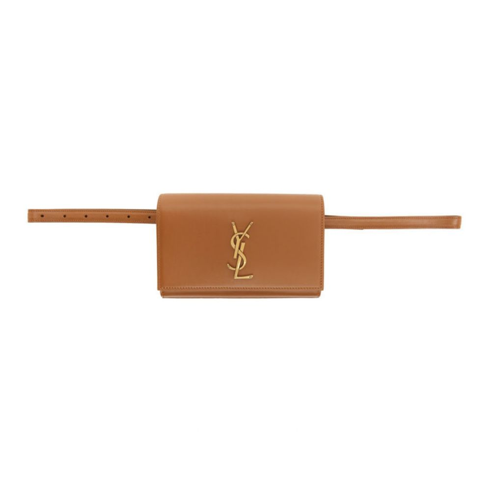 イヴ サンローラン Saint Laurent レディース ボディバッグ・ウエストポーチ バッグ【Brown Kate Belt Bag】Brick