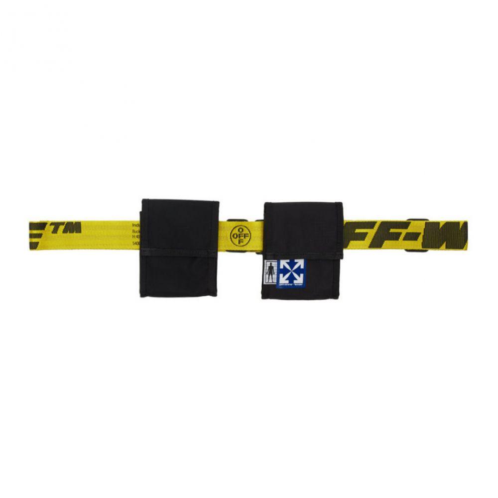 オフホワイト Off-White レディース ボディバッグ・ウエストポーチ バッグ【Black & Yellow Two-Pocket Fanny Pack】Black/Yellow