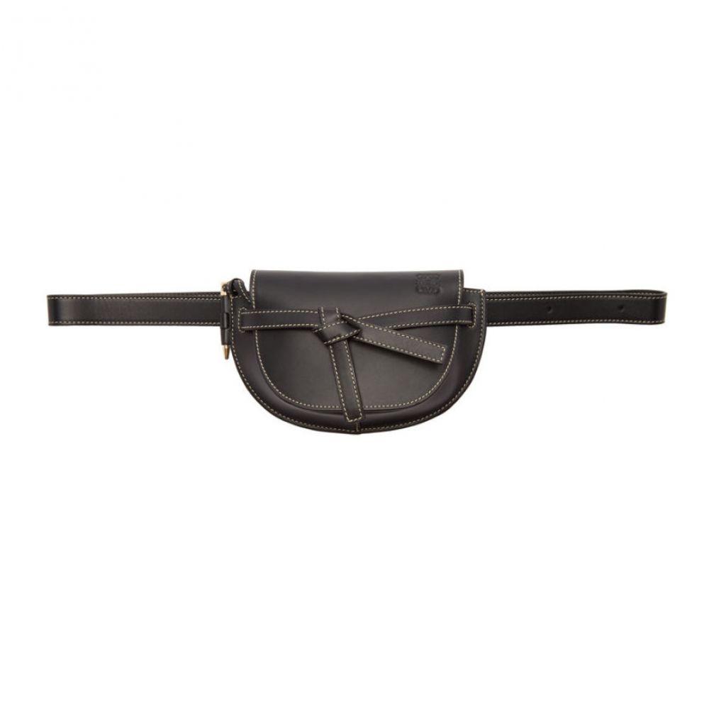ロエベ Loewe レディース ボディバッグ・ウエストポーチ バッグ【Black Mini Gate Bum Bag】Black