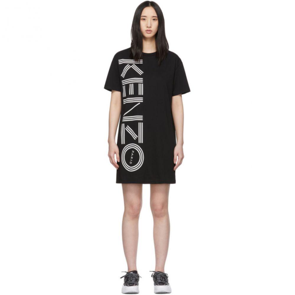 ケンゾー Kenzo レディース ワンピース Tシャツワンピース ワンピース・ドレス【Black Logo T-Shirt Dress】Black