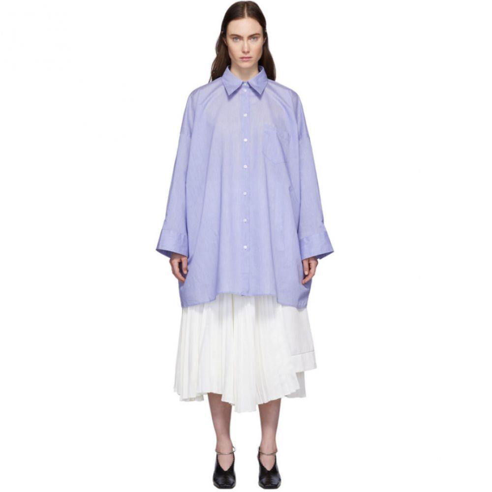 アクネ ストゥディオズ Acne Studios レディース ワンピース シャツワンピース ワンピース・ドレス【Blue Suky Shirt Dress】Powder blue