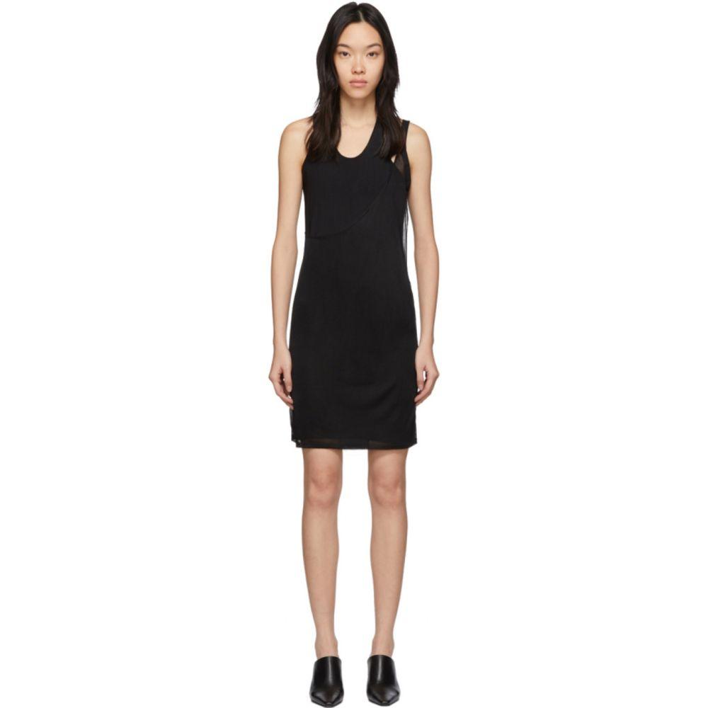ヘルムート ラング Helmut Lang レディース ワンピース タンクドレス ワンピース・ドレス【Black Asymmetric Tank Dress】Black