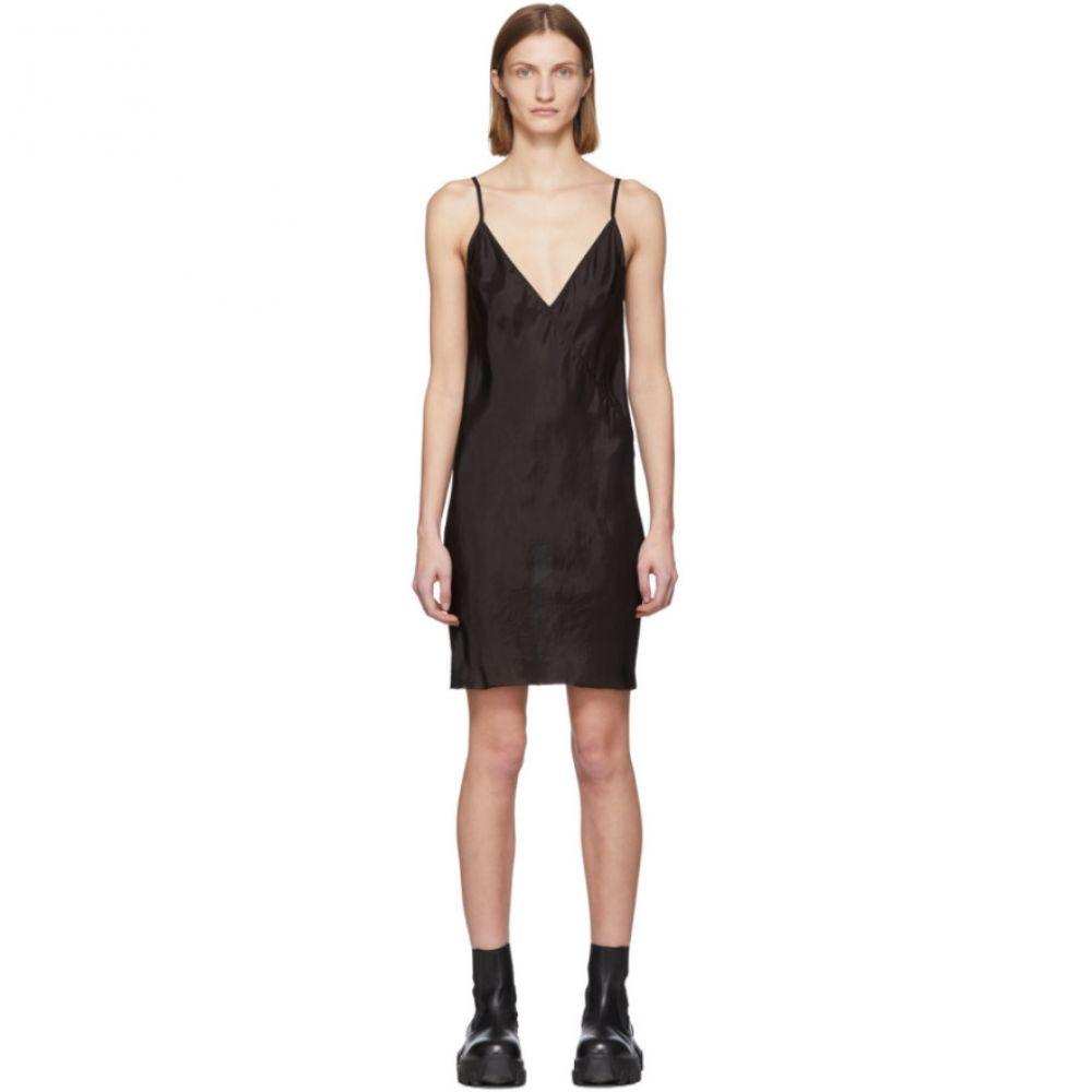 リック オウエンス Rick Owens レディース ワンピース スリップドレス ワンピース・ドレス【Black Cupro Slip Dress】Black