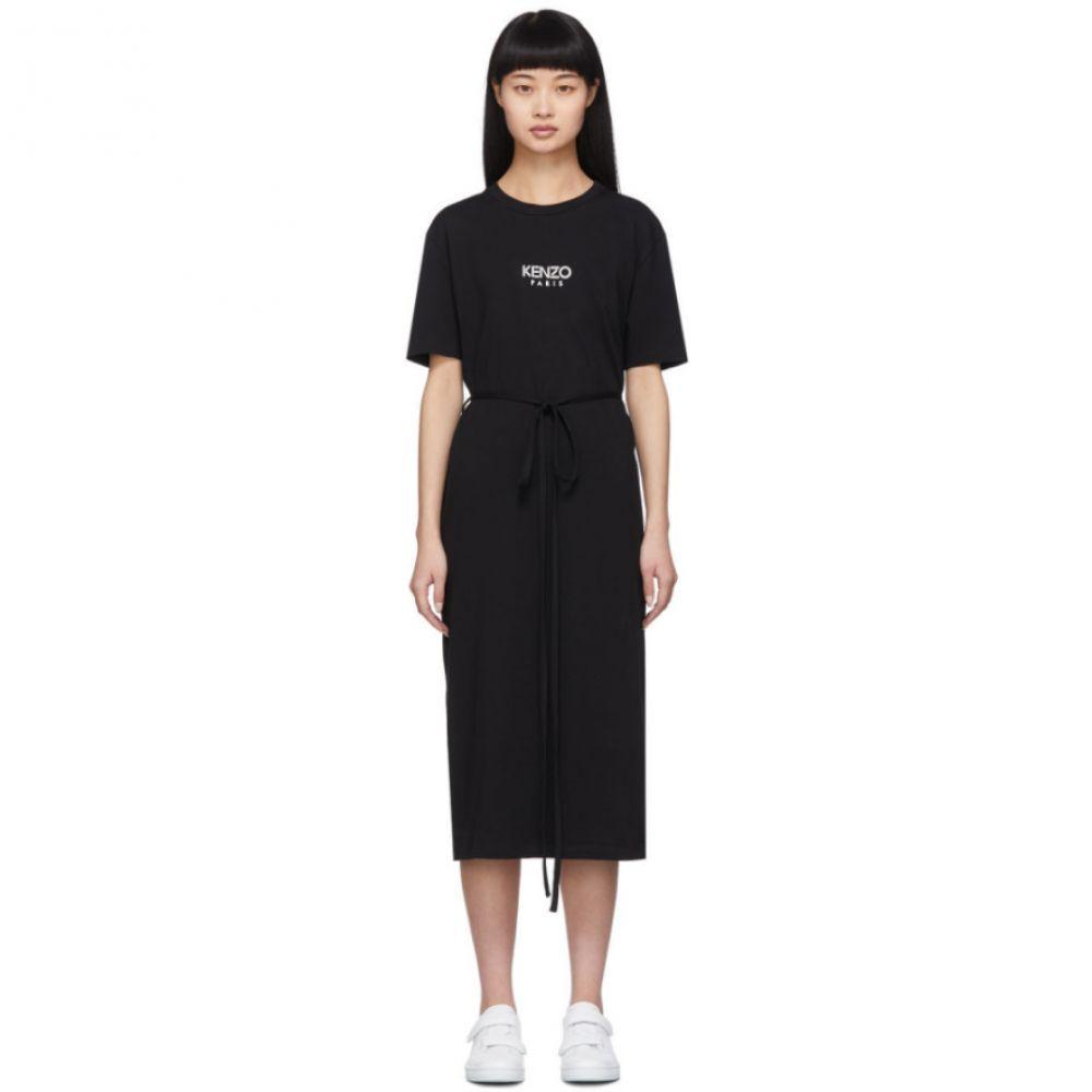 ケンゾー Kenzo レディース ワンピース Tシャツワンピース ワンピース・ドレス【Black Belted T-Shirt Dress】Black