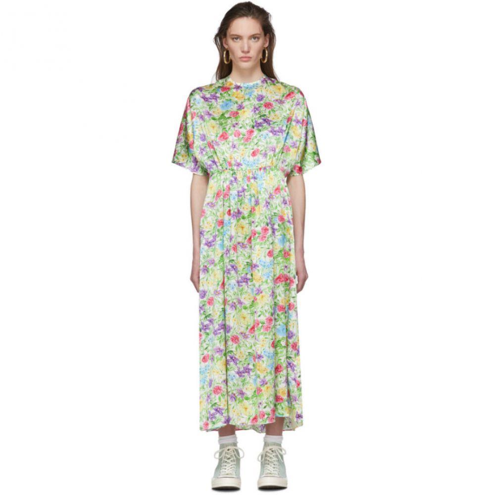 レ レヴェリズ Les Reveries レディース ワンピース ワンピース・ドレス【Multicolor Floral Silk Dress】Rose orchid