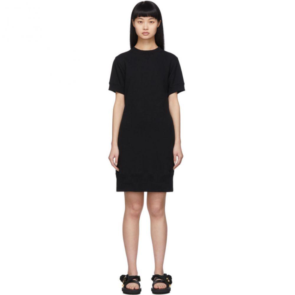 サカイ Sacai レディース ワンピース ワンピース・ドレス【Black Cut-Out Sweat Dress】Black