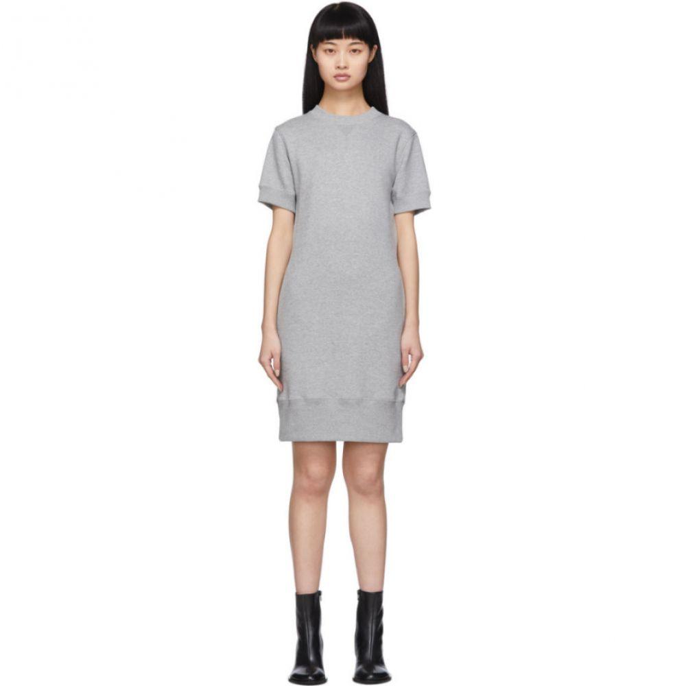 サカイ Sacai レディース ワンピース ワンピース・ドレス【Grey Cut-Out Sweat Dress】Grey