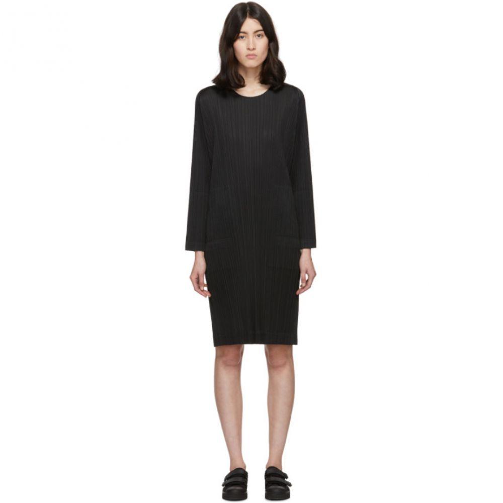 プリーツ プリーズ イッセイ ミヤケ Pleats Please Issey Miyake レディース ワンピース ワンピース・ドレス【Black Side-Vent Dress】Black