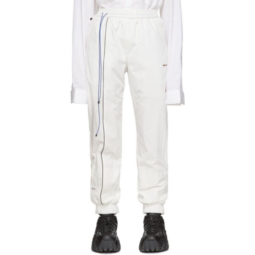 アーダーエラー ADER error レディース スウェット・ジャージ ボトムス・パンツ【White Logo Graphics Lounge Pants】White
