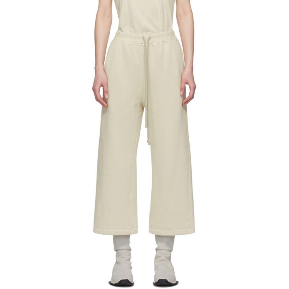 リック オウエンス Rick Owens Drkshdw レディース スウェット・ジャージ ボトムス・パンツ【Beige Drawstring Lounge Pants】Pearl