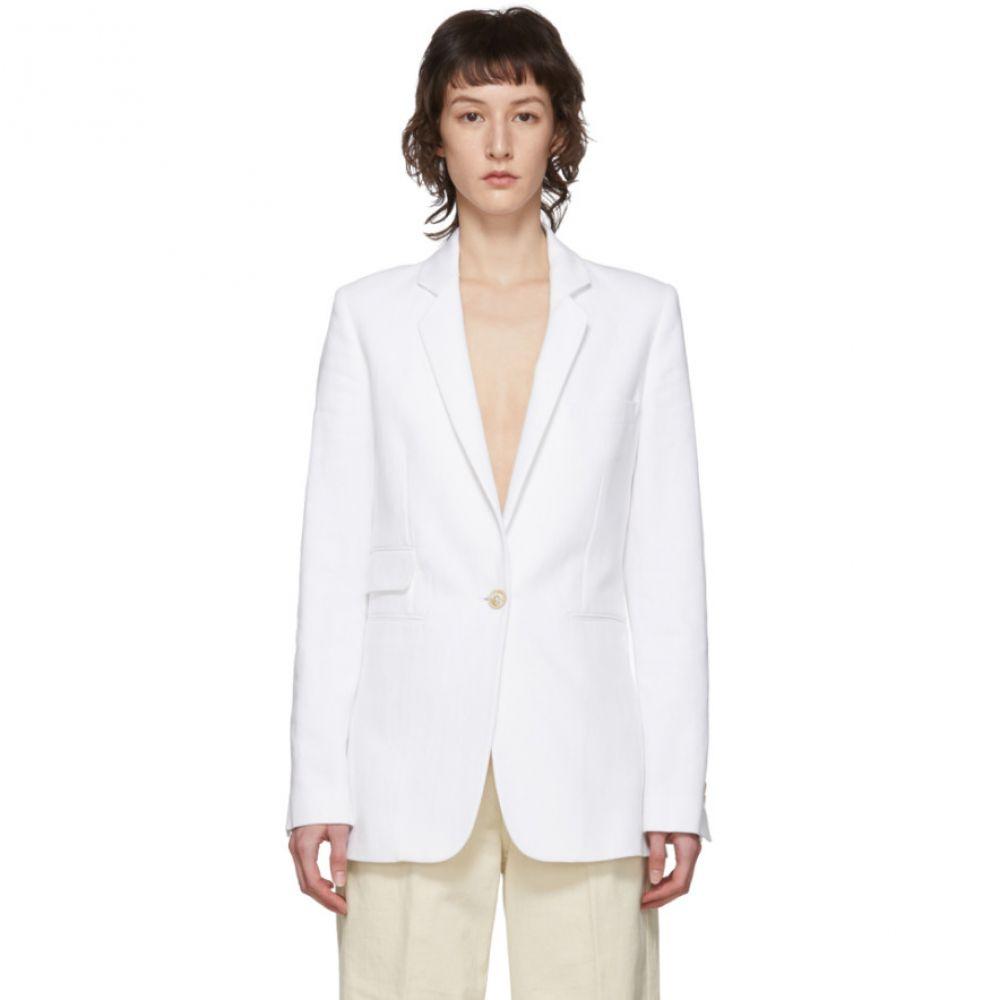 アンドゥムルメステール Ann Demeulemeester レディース スーツ・ジャケット アウター【White Palomar Blazer】White