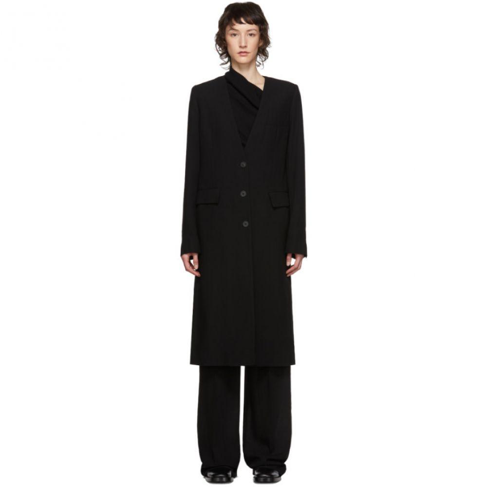 アンドゥムルメステール Ann Demeulemeester レディース コート アウター【Black Lightlaine Coat】Black