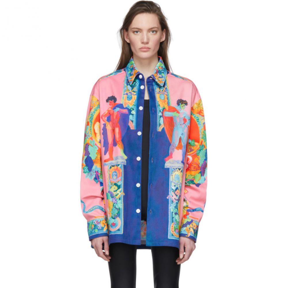 ヴェルサーチ Versace レディース ジャケット Gジャン アウター【Multicolor Denim Oversized Jacket】Multi