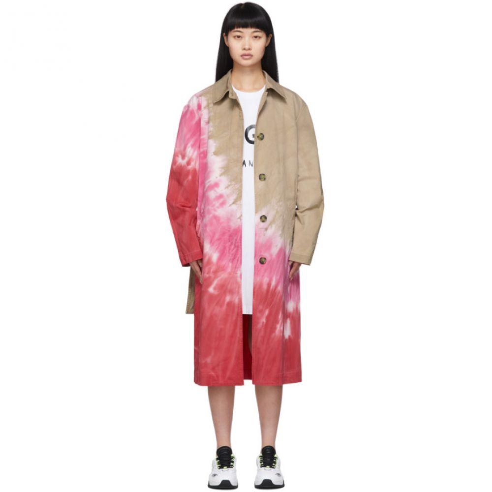 エムエスジーエム MSGM レディース トレンチコート アウター【Multicolor Tie-Dye Trench Coat】White