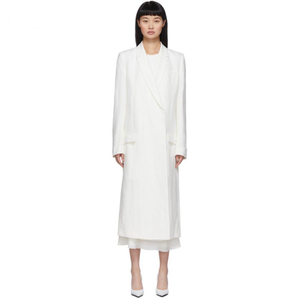 ハイダー アッカーマン Haider Ackermann レディース コート アウター【Off-White Classic Coat】Ivory