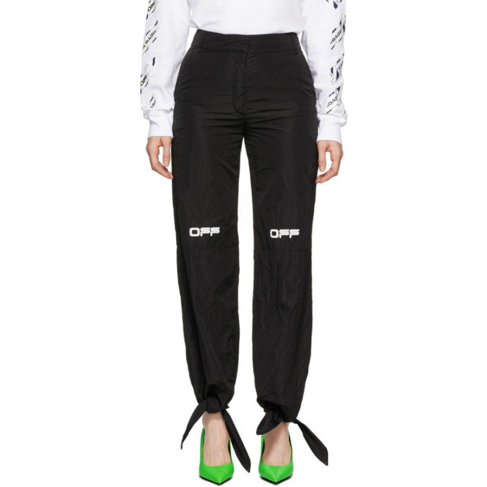 オフホワイト Off-White レディース スウェット・ジャージ ボトムス・パンツ【Black Nylon Bow Lounge Pants】Black/White